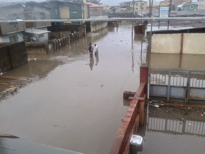flooded lagos streets