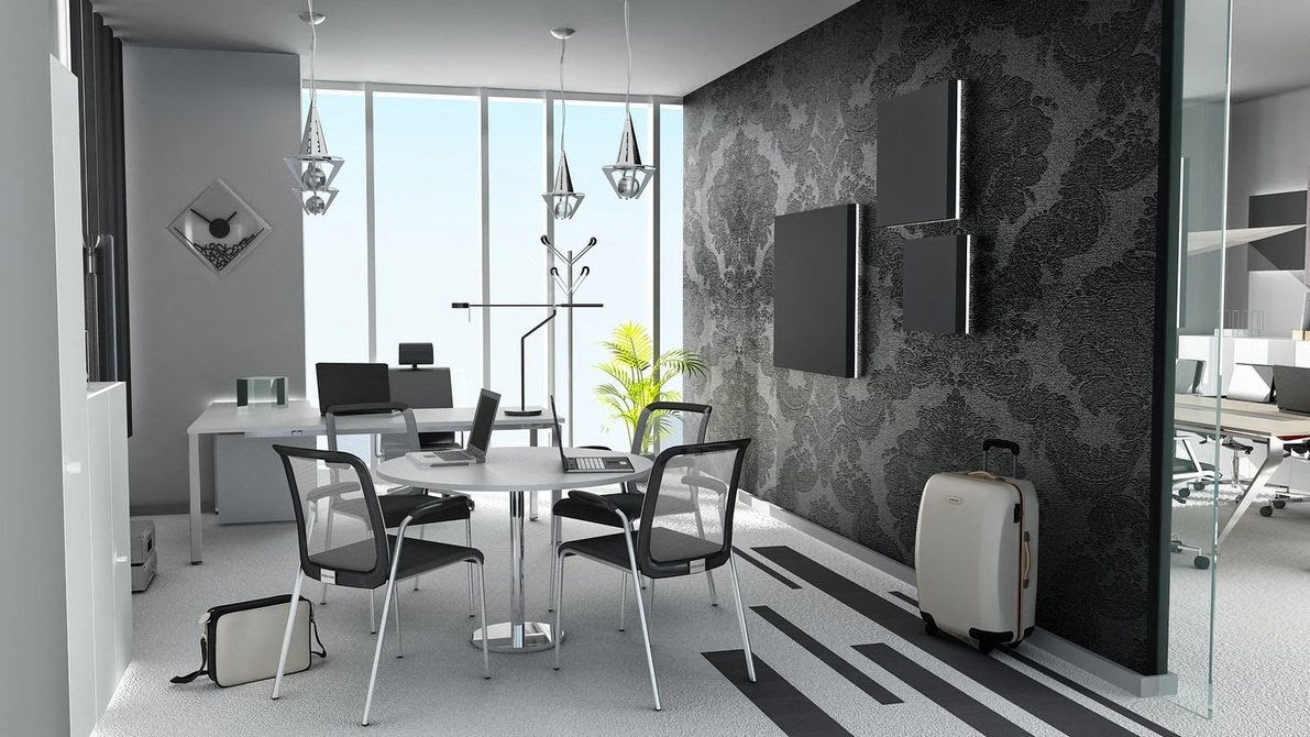 Chic Office Meeting Area