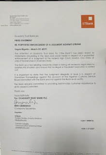 """Gtbank Clears The Air On Innoson """"Takeover"""""""