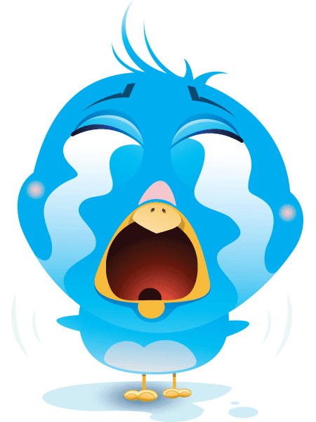 Tearful Bird Icon