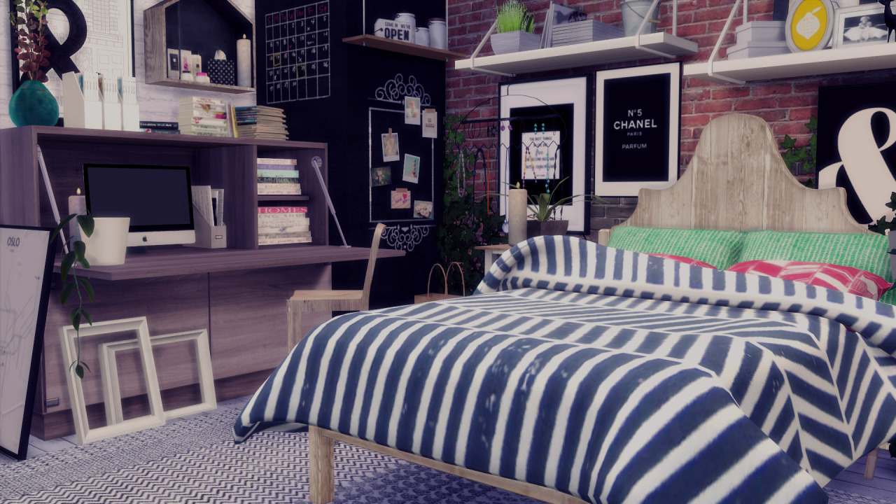 My Sims 4 Blog Jonesi Blankets  LeeHee Pillow Recolor