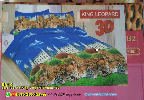 Sprei Bonita King Leopard Ukuran 160