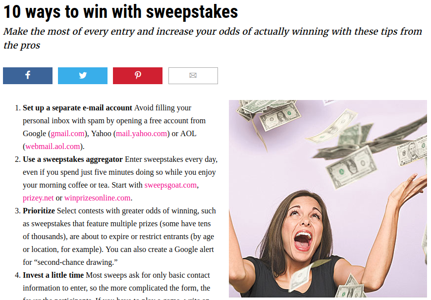 All you need to know about how to win online sweepstakes