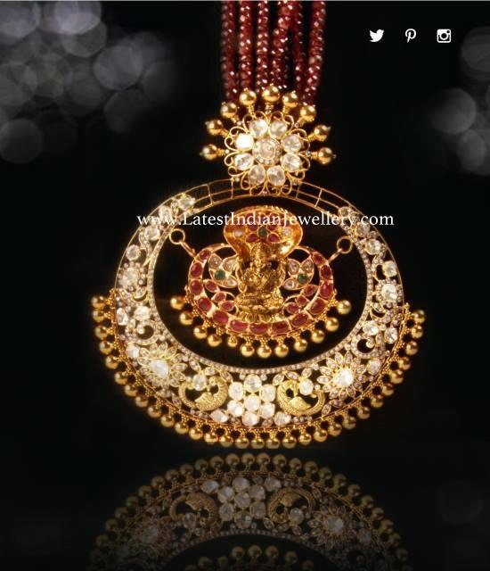 Ruby Beads Lakshmi Pendant