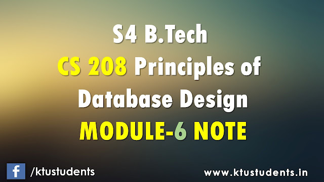 ktu cs208 sixth module note