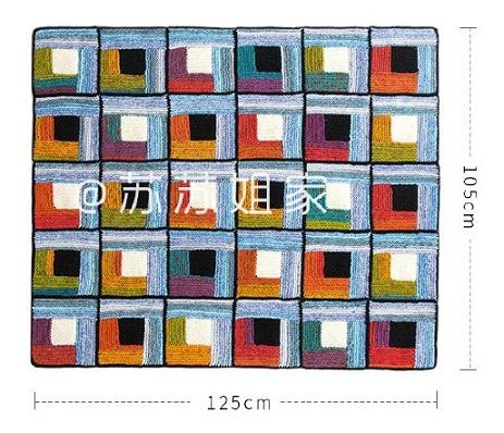Схемы вязания спицами пледа «Пэчворк» (4)