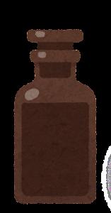 試薬瓶のイラスト1(茶色)