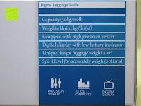 Eigenschaft: GHB 50kg Digitale Gepäckwaage LCD Anzeige tragbare Handwaage Kofferwaage für Reise und Haushalt Silber