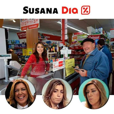 Susana Díaz, cajera DIA