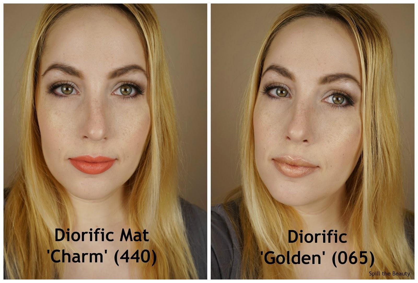 dior holiday makeup 2016 3.3 lipstick swatch charm golden