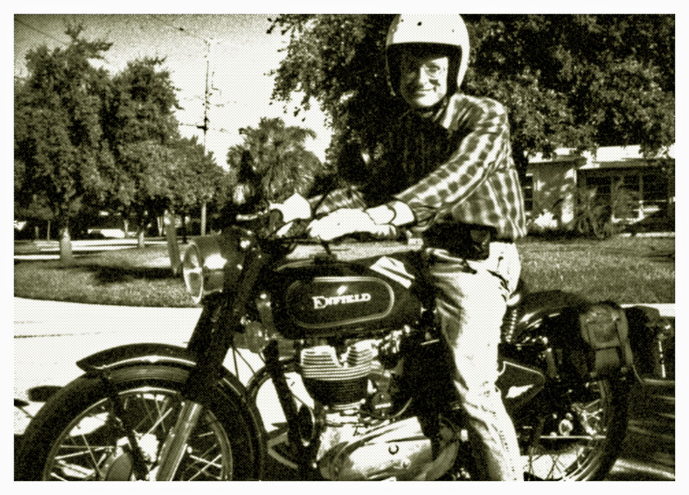 Royal Enfield motorcycle and rider.