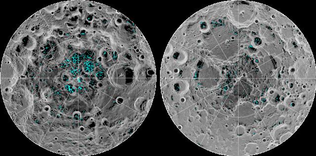 Pesquisadores confirmam que há gelo nos pólos da Lua