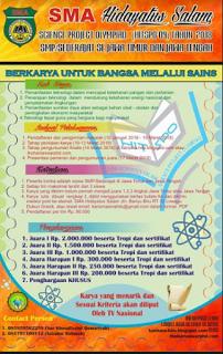 Lomba Karya Tulis Pelajar SMP/Sederajat 2018 di SMA Hidayatus Salam