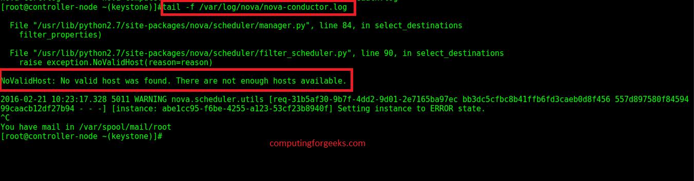 How to Fix Openstack Nova error