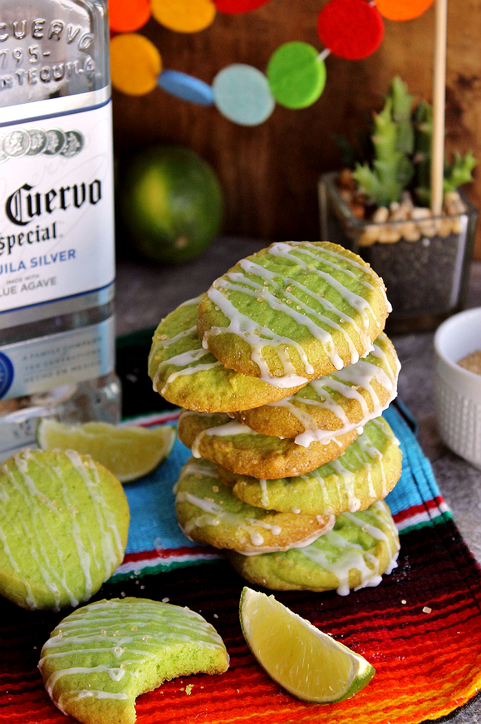 These sweet and salty Margarita Cookies can be made with a Tequila Glaze or Lime Glaze, depending on your style. Either way they're full of sweet and salty textures that are sure to send your tastebuds on a wild ride!