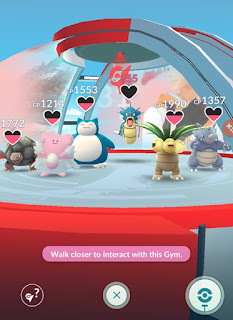 Pokemon Go Gyms - when to spin the photo disc