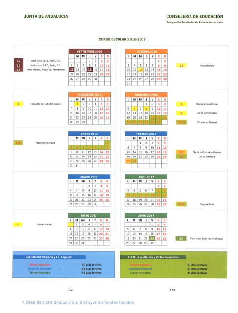 Impresion Calendario Escolar