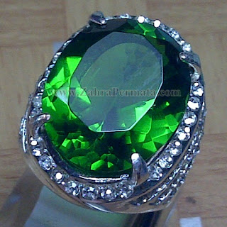 Cincin Batu Permata Green Tektite - ZP 953