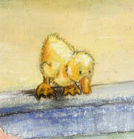 Kinderbuchillustration, Bauernhof, Küken, duckling, children's book illustration
