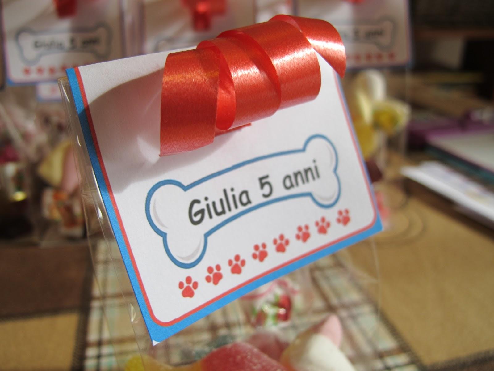 Eccezionale Angolino di Liana: Sacchetti Caramelle Compleanno Paw Patrol MT98
