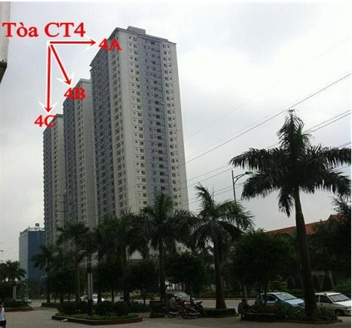 Mặt chính tòa chung cư giá rẻ CT4B Xa La - Hà Đông - Hà Nội