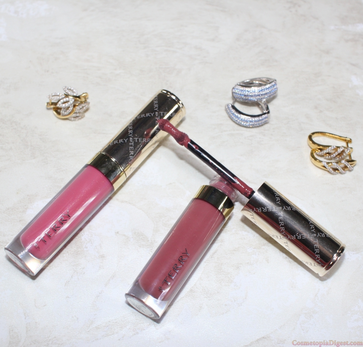 Review and swatches of By Terry Terrybly Velvet Rouge Liquid Lipsticks in Dream Bloom, Cappuccino Rose.