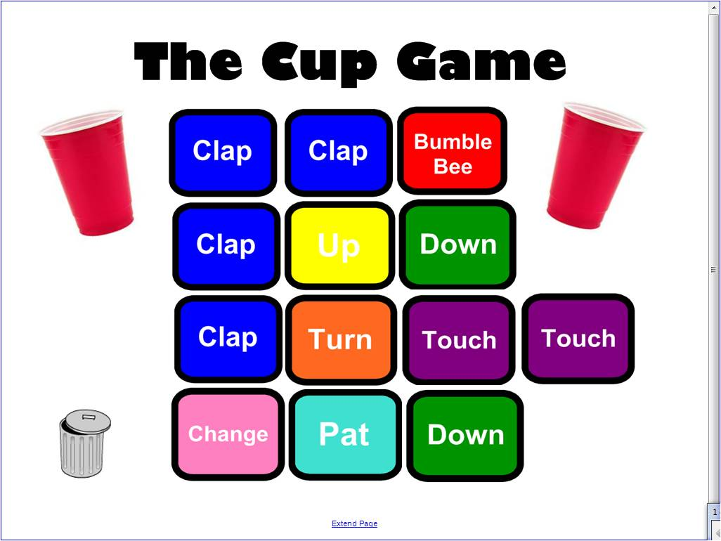 We Music Hses The Cup Game