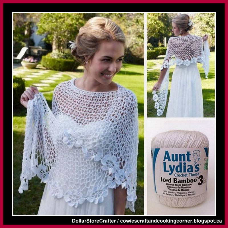 Dollar Store Crafter Free Spring Blooms Crochet Wedding Shawl Pattern