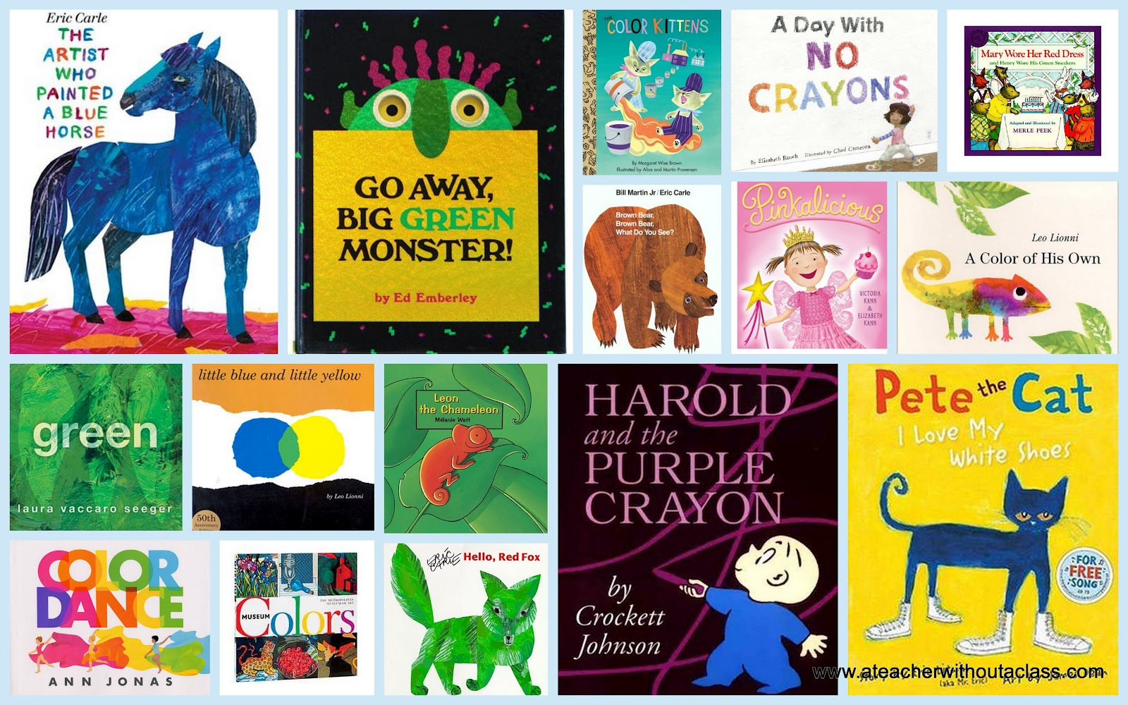 A Teacher without a Class: My Favorite Color Books!