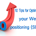 10 Tips for Optimizing your Web positioning (SEO)