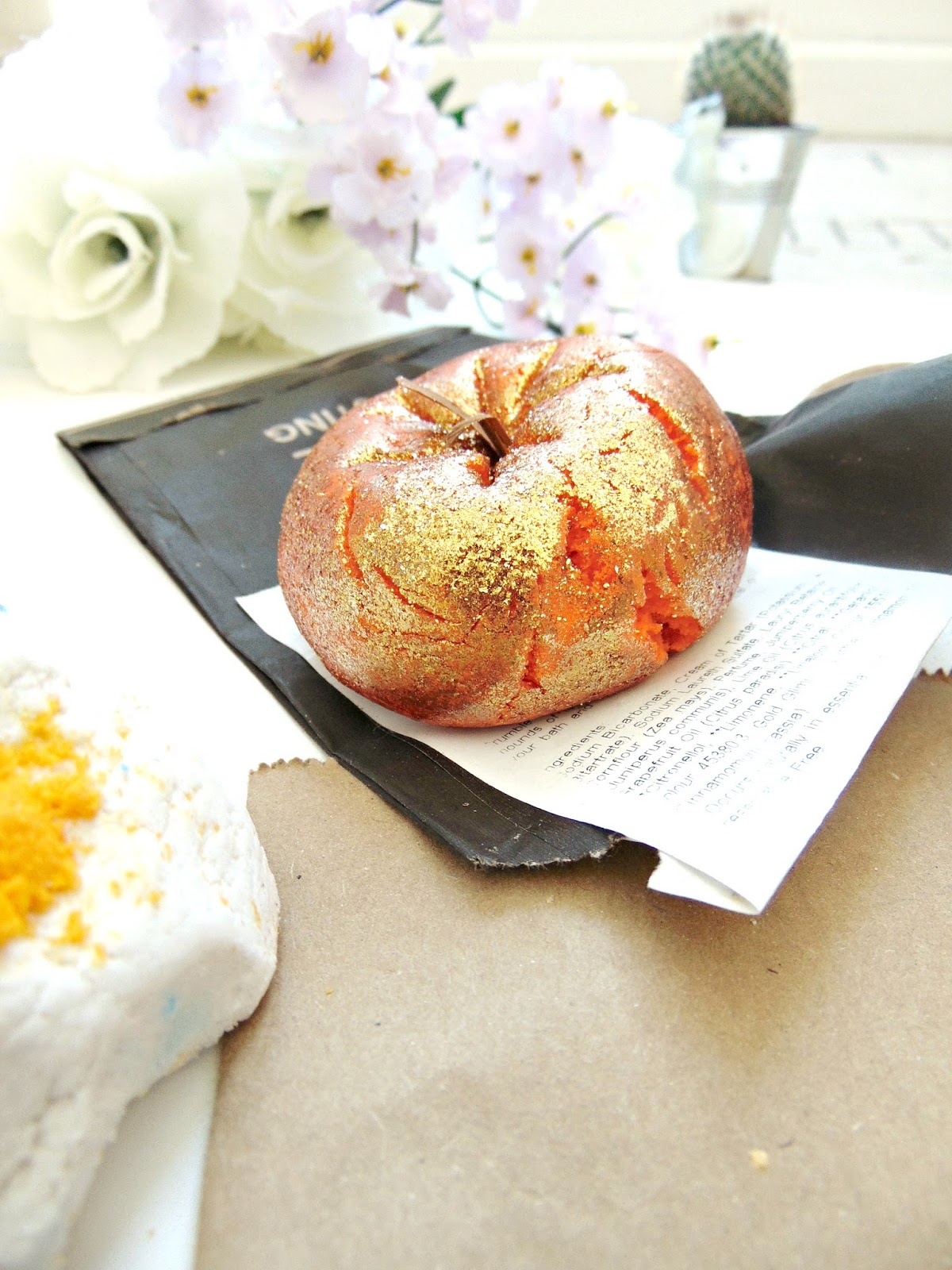 Sparkly Pumpkin Bubble Bar