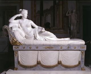 Paolina Borghese, obraprima do escultor vêneto Antonio Canova