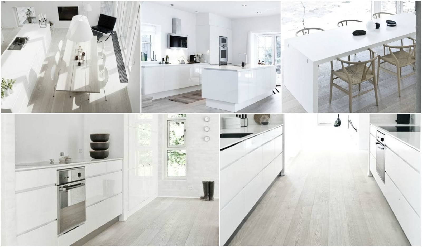 White Kitchen Floors Country Faucets Laminate Tiles For Floor Wood