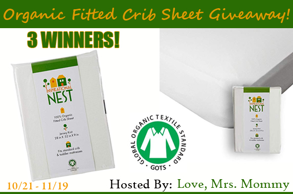 Inspirational NEST Organic Fitted Crib Sheet Giveaway! 3 Winners!