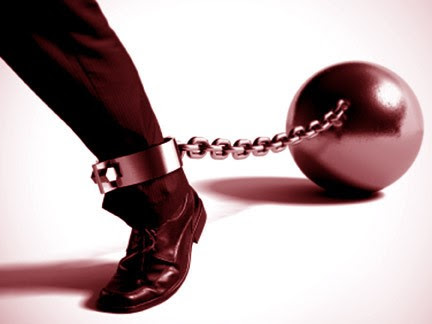 That clinking and clanging you're hearing might be the ball and chain your business has attached to your ankle