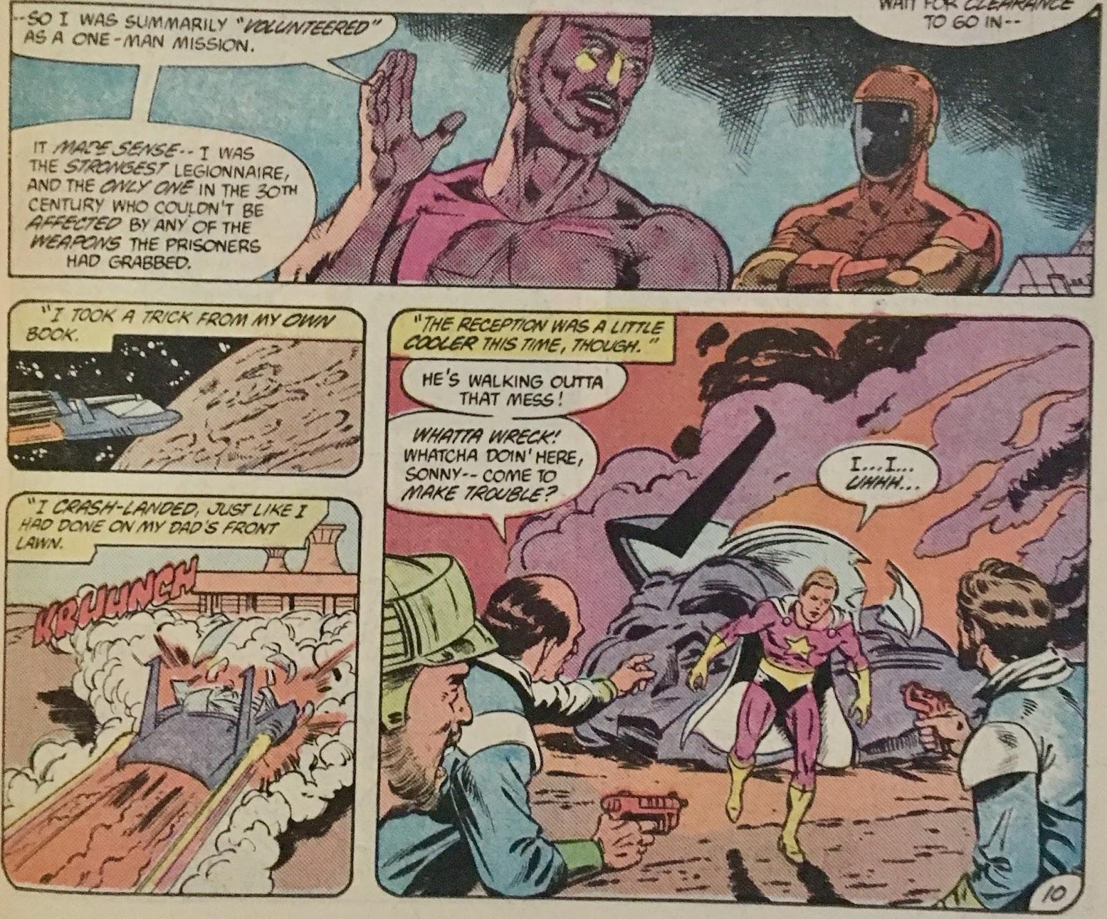Chris is on Infinite Earths: Legion of Super-Heroes #306 (1983)