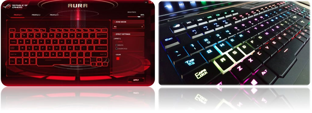ROG GX800 mechanical keyboard with RGB LED