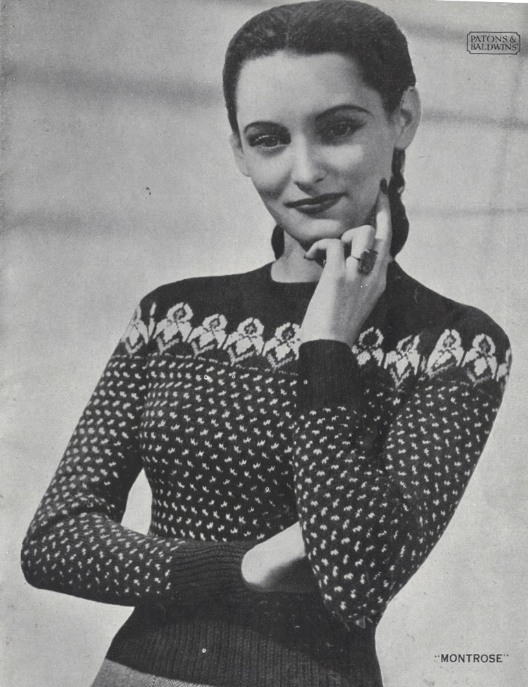 The Vintage Pattern Files 1940s Knitting Womens Scottish Fair
