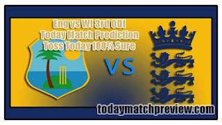 3rd ODI WI vs Eng Today Match Prediction Dream11 Squad