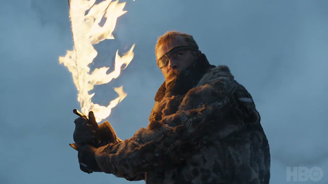Beric Dondarrion with flaming Sword