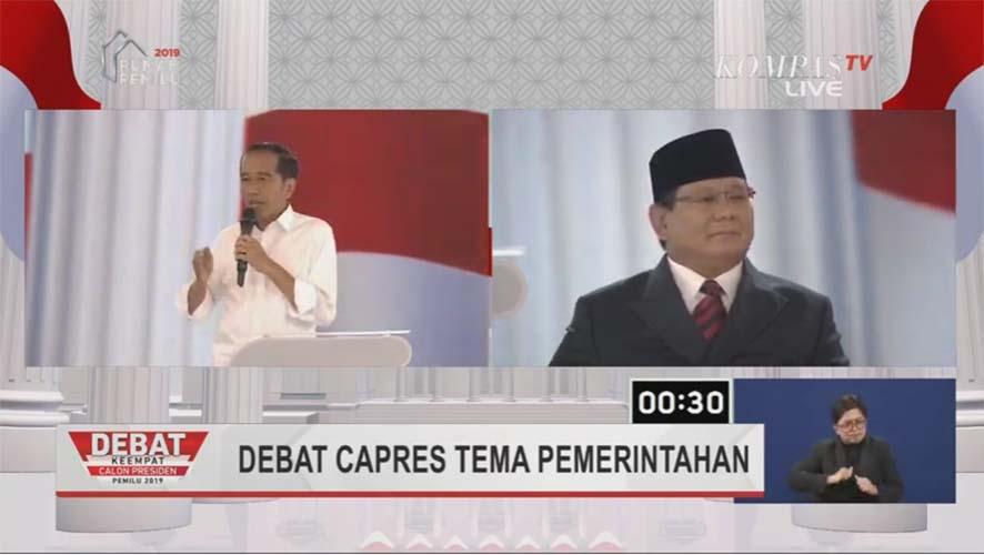 Debat capres pemerintahan dilan