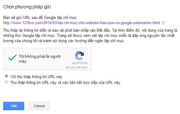 Lập chỉ mục cho website hiệu quả với Google Webmasters