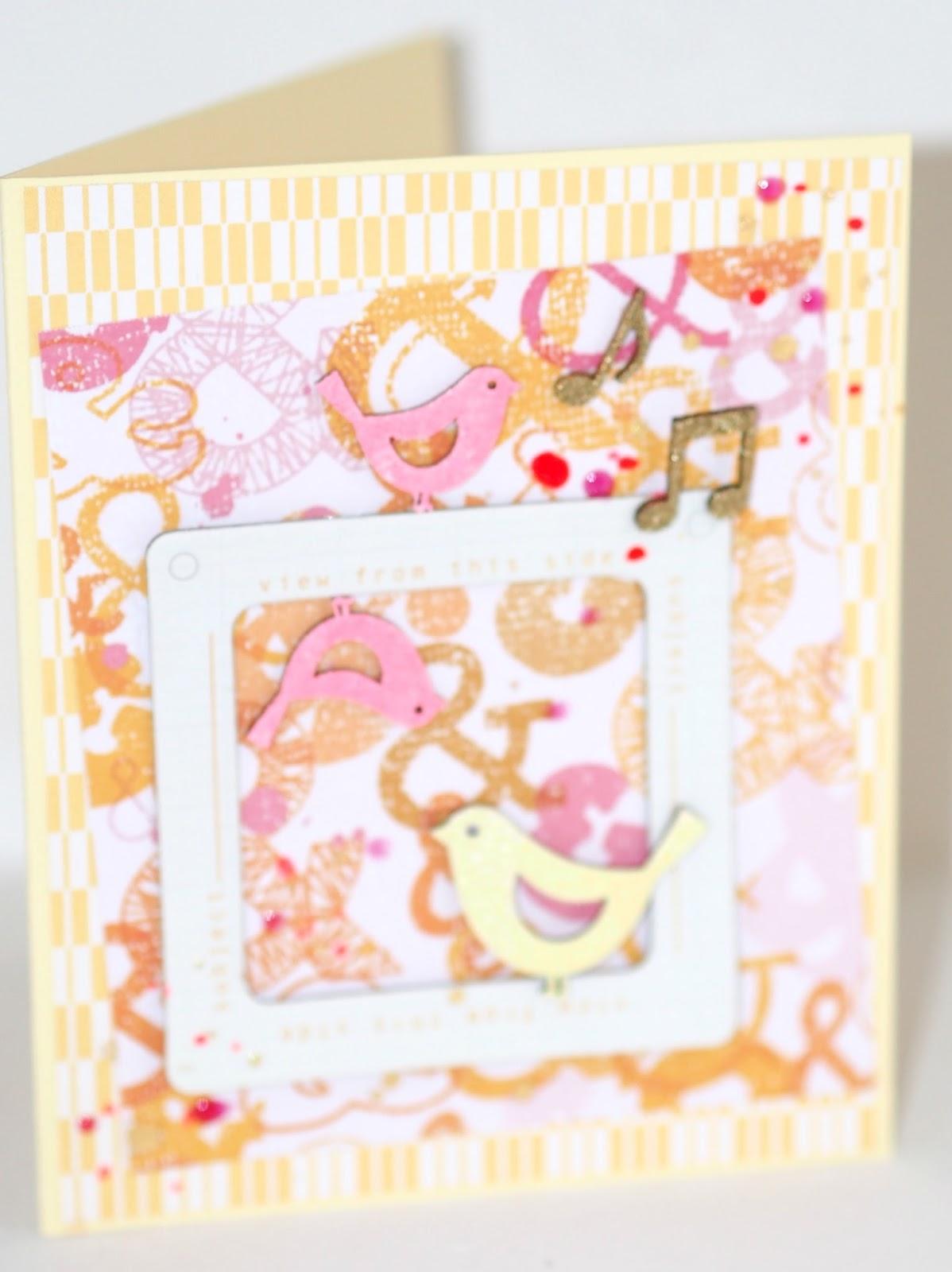 Rosarot&Blaugrün: Geburtstagskarte mit Studio Calico