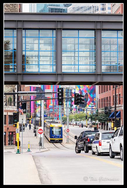 Metro light rail train - North 5th Street - Minneapolis, MN