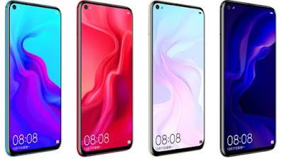 Huawei Nova 4 Dengan Kamera Depan Melingkar di Layar Mulai dijual