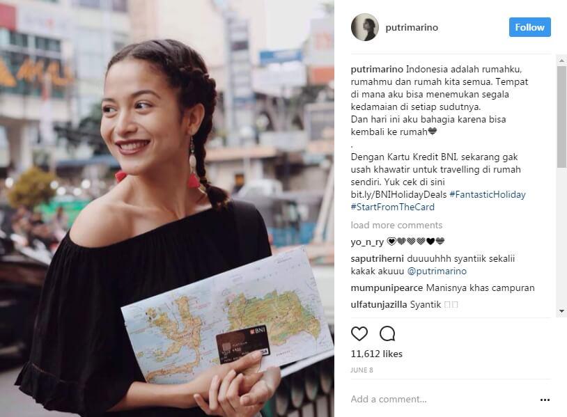 selebgram cantik tarif endorse termahal di indonesia