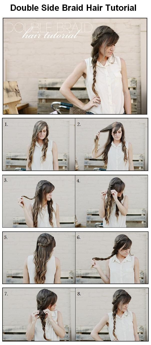 Magnificent Hair And Fashion How To Make Double Side Braid For Hair Short Hairstyles Gunalazisus