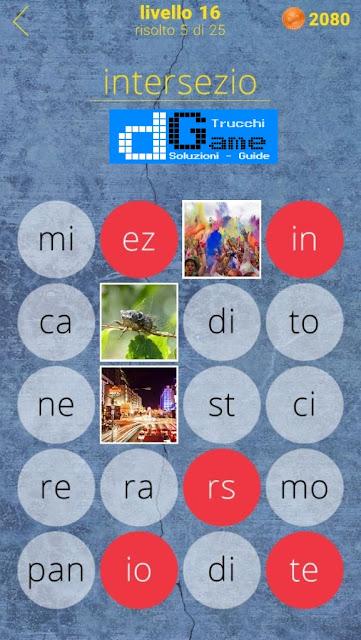 650 Parole soluzione livello 16 (1 - 25)   Parola e foto