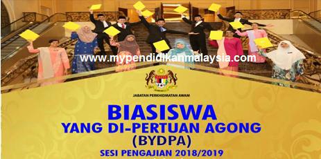 Tawaran Biasiswa Yang Di Pertuan Agong Bydpa 2018 2019 Mypendidikanmalaysia Com