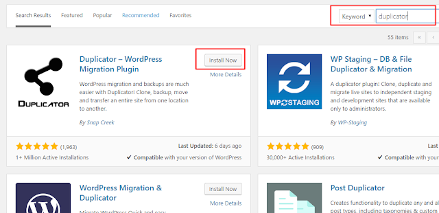 Cara Duplikat Website Wordpress Dengan Plugin Duplikator